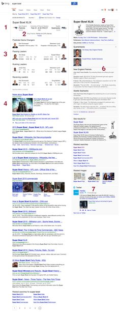 Quite possibly the best Bing SERP ever? Quite possibly, yes!  #SuperBowl