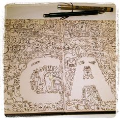 #doodle in my #Moleskine by Christelle Ammirati 2014