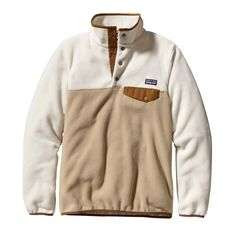 Patagonia Women's Synchilla® Recycled Fleece Lightweight Snap-T® Pullover | El Cap Khaki