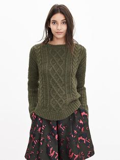 Chunky Cable-Knit Sweater Pullover