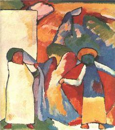 By Wassily Kandinsky Paul Klee, Art Kandinsky, Wassily Kandinsky Paintings, Abstract Painting Techniques, Abstract Art, Abstract Landscape, Franz Marc, African Artists, Post Impressionism