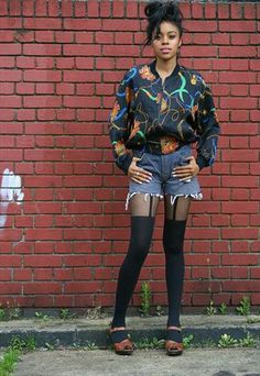 Pretty Polly Suspender Tights Suspender Tights, Printed Bomber Jacket, Vintage Scarf, Her Style, Asos, Jackets For Women, Women Wear, Punk, Pretty