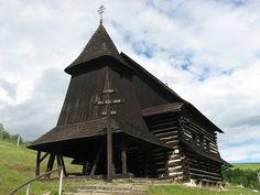 Wooden Churches and Folk Architecture of the Carpathian Mountains: Brežany, Slovakia Vernacular Architecture, Historical Architecture, Carpathian Mountains, Heart Of Europe, Beautiful Places In The World, Bratislava, Eastern Europe, Wood Art, Gazebo