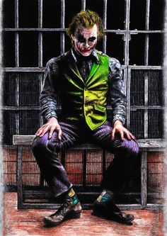 Joker in a #Jail Cell from Deviant Art