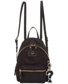 GUESS Cool School Small Leeza Backpack Handbags   Accessories - Macy s 5693ce671222f