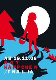 Rotkäppchen (Little Red Riding Hood) by Neue Gestaltung , via Behance