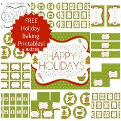 Free Holiday Baking Printables + extras!
