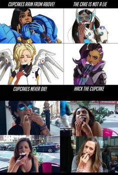 Art mimics the voice actors Overwatch Video Game, Overwatch Comic, Overwatch Fan Art, Overwatch Voice Actors, Dark Souls, Overwatch Quotes, Dark Humour Memes, Pokemon Comics, Gaming Memes