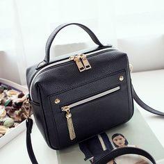 패션 지퍼 여성 가방 높은 품질의 가죽 여성 최고 핸들 가방 작은 메신저 가방