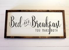 Farmhouse Kitchen Kitchen Sign Guest Bedroom Bed and Guest Bedroom Decor, Bedroom Signs, Bedroom Bed, Guest Bedrooms, Bedroom Ideas, Bed & Breakfast, Distressed Signs, Luxury Rooms, Trendy Bedroom