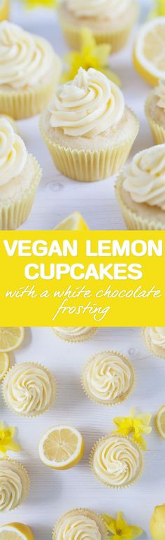 Lemon cupcakes with a white chocolate frosting / Vegan, gluten-free / Goodness is Gorgeous (Healthy Chocolate Desserts)