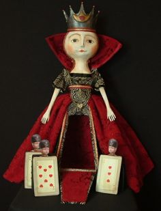 queen ann of hearts - artist unknown - my jaw dropped when I saw this doll!