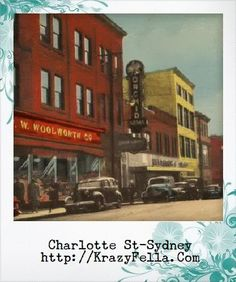 Tom MacDonald - Google+ - Charlotte St, Sydney, Cape Breton… Cape Breton, Canada Travel, Nova Scotia, Sydney, Charlotte, Childhood, Paintings, Memories, Songs