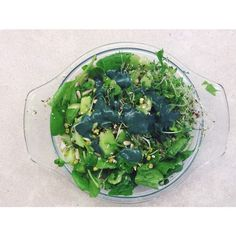spirulina sprout salad