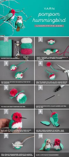 Pom Pom Hummingbirds