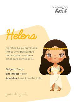 A iluminada Helena! É uma escolha clássica que voltou com tudo para conquistar as mamães modernas. #gravidez #maternidade #nomes #helena Names With Meaning, Baby Girl Names, Baby Shark, Holidays And Events, Baby Fever, Future Baby, Kids And Parenting, Baby Toys, Pregnancy