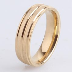 Find More Rings Information about 6mm gold plated double stripe brushed 316L Stainless Steel finger rings for men wholesale,High Quality ring details,China ring setting Suppliers, Cheap steel curtain rings from Chinese Jewelry Factory,Wholesale From Yiwu China on Aliexpress.com
