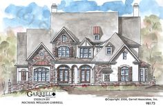 Brighton House Plan 98173, Front Elevation, Normandy Style House Plans, Courtyard Style House Plans