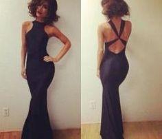 2015 New Fashion Mermaid Sexy Criss Cross Woman Summer Dress Under $ 100 Backless Gown Long Prom Dresses Vestidos de Fiesta