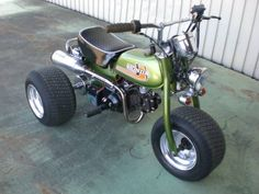 . Mini Motorbike, Scrambler Motorcycle, Mini Bike, Custom Trikes, Custom Motorcycles, Go Karts For Kids, Honda Ruckus, Honda Bikes, Drift Trike