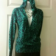 Nollie Hooded blue green sweater 100% cotton,hooded sweater Nollie  Jackets & Coats