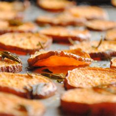 Tender Roasted Sweet Potato Chips