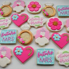 Bridal Shower Wedding Dress Decorated Cookies