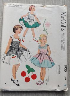 Girls' Pinafore and Crinoline Petticoat in Size 6 Vintage