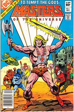 Masters of the Universe 1 DC Comics KEY by LifeofComics Vintage Gift Quality He-Man Skeletor She-Ra 1982 MOTU #comicbooks