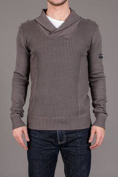 D-Struct Shawl Collar Sweater