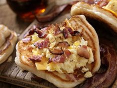 Pancake Breakfast Tacos Are Here to Ruin All Other Meals-A classic breakfast taco rules, but it can be just as satisfying to go to town on pancakes. Pancake breakfast tacos allow for the best of both worlds. Breakfast Tacos, Breakfast Pancakes, Breakfast For Dinner, Best Breakfast, Breakfast Recipes, Breakfast Ideas, Breakfast Time, Easy Delicious Recipes, Tasty