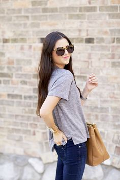 gray, denim, and tortoise shell