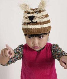 Free Knitting Pattern - Hats: Tiger Kitty Hat