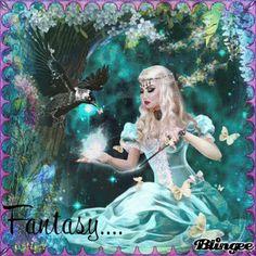"""Spring fantasy...fantaisie du printemps""     #blingee #artist #merveilleuse #création #fantaisie #fée #dans #son #monde #extraordinaire  #artwork #amazing #creation #fantasyart #fairy #in #his #extraordinary #world Blingee, Gifs, Fantasy, Mythical Creatures, Photo Editor, Unicorns, Mermaids, Spring, Fairies"