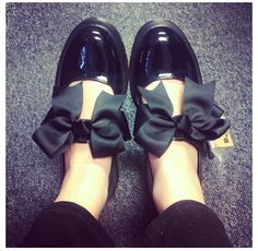 Dr Martens Mariel Bow Mary Jane Flat Shoes