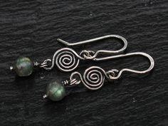 Labradorite Swirl Earrings