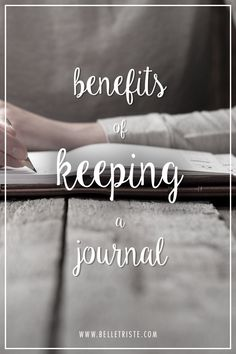 Keeping a journal has many emotional and health benefits. Read about some of them over at www.belletriste.com
