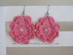 Ravelry: Flower Earrings pattern by HappinessCrafty