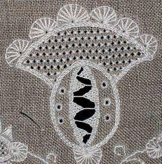 Whitework Embroidery Techniques Sampler, progress so far