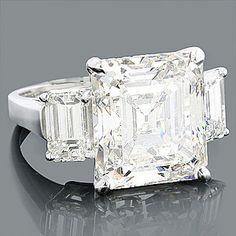 Emerald Cut Diamond Ring 11.41 Carat