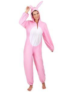 Disfraz conejo rosa mujer: Este disfraz de conejo rosa es para mujer. Incluye traje con capucha (accesorio no incluido). El traje es rosa y suave al tacto con efecto polar. El traje se cierra con cremallera.Las mangas...