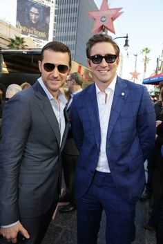 Richard Armitage and Lee Pace seen at a ceremony honoring Peter Jackson with a star on The Hollywood Walk Of Fame