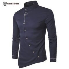 Embroidery Shirt Men 2017 Brand New Long Sleeve Mens Dress Shirts Casual Slim Fit Button Down Chemise Homme Camisetas Hombre Long Sleeve Shirt Dress, Long Sleeve Shirts, Dress Shirts, Sleeved Dress, Casual Shirts For Men, Men Casual, Casual Wear, Chemise Fashion, New Mens Fashion