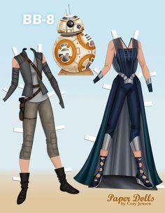 Star Wars #paperdolls Rey 2 of 2   by Cory Jensen.