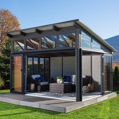 Villa Nueva Gazebo is part of Porch roof - aluminum foldandslide doors with door locks