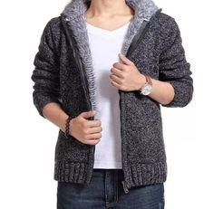 Sweater Men 2016 New Brand Winter Sweater coat knit cardigan jacket Casual Slim Men Warm Sweaters Jumpers Pull Homme Fleece Sweater, Hooded Cardigan, Sweater Coats, Sweater Outfits, Men Sweater, Knit Cardigan, Sweater Jacket, Cardigan Sweaters, Cotton Cardigan