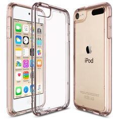 iPod Touch 6th Generation Case,Ulak Soft TPU Bumper PC Back Hybrid Case for iPod Touch 6/iPod Touch 5- Retail Packaging - Clear Slim (Rose Gold)