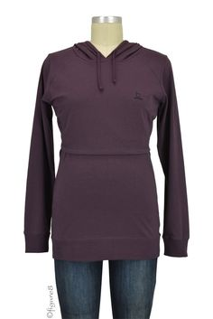 Boob B-Warmer Knitted Nursing Hoodie in Cassis. Please use coupon code NewProducts to receive 15% off these items. To receive the discount, please place your order by midnight Monday, August 24, 2015