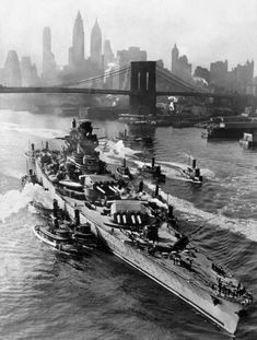 So I thought this was awesome, French battleship Richelieu in NYC.