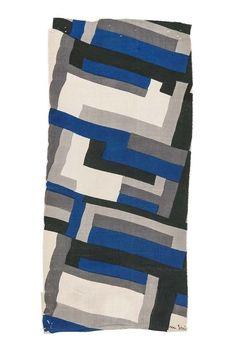 """Sonia Delaunay, """"Tissu Simultané"""" n° 60, 1924, manufacture Ferret, échantillon. Les Arts décoratifs"""